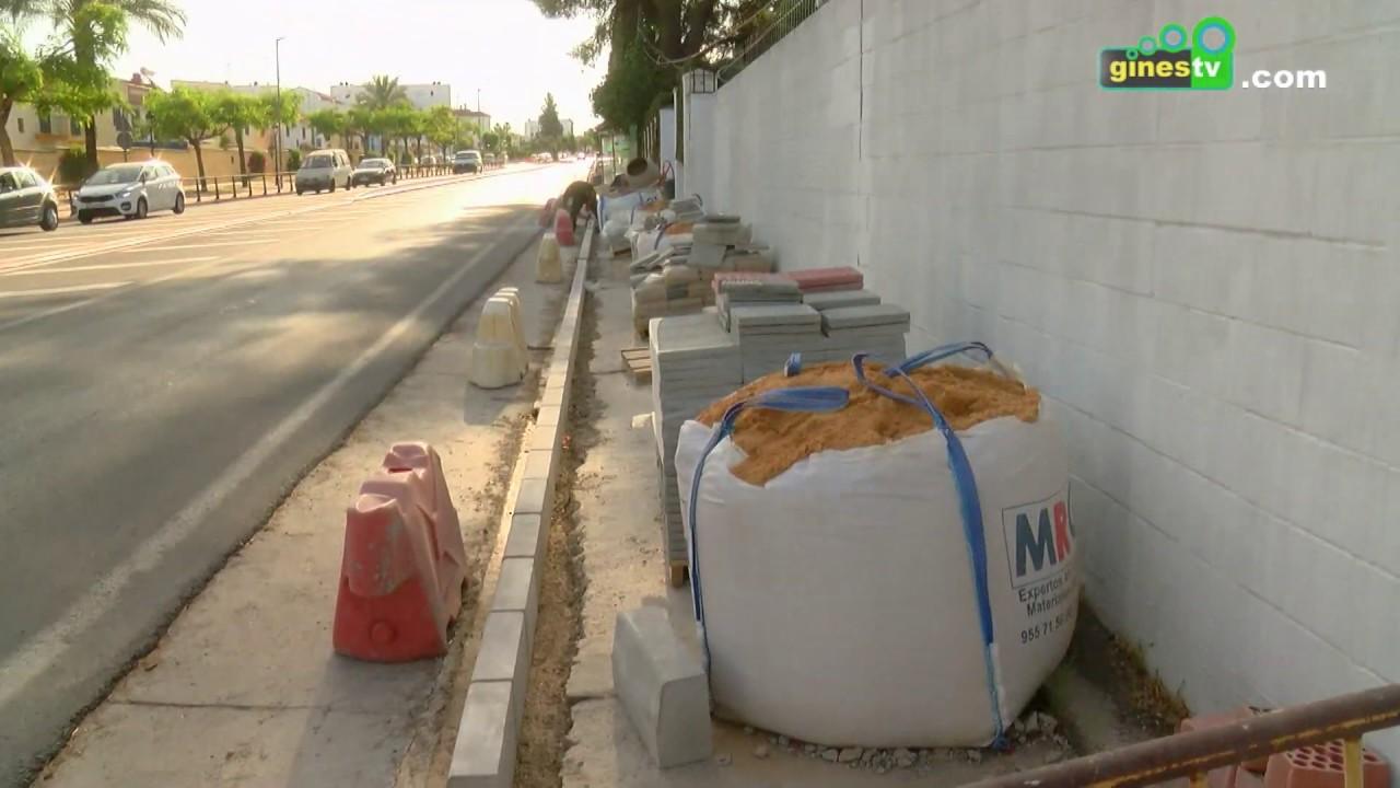 Un nuevo tramo de acerado en la avenida de Europa mejorará la seguridad de los peatones