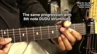 WHAT DO YOU MEAN Justin Bieber EASY Acoustic Guitar Lesson EricBlackmonMusicHD