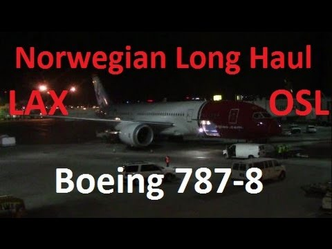 Boeing 787 Dreamliner Norwegian Air Shuttle Flight DY7082 Los Angeles-Oslo