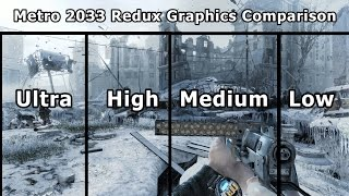 Metro 2033 REDUX Graphics Comparison PC (Ultra to Low)