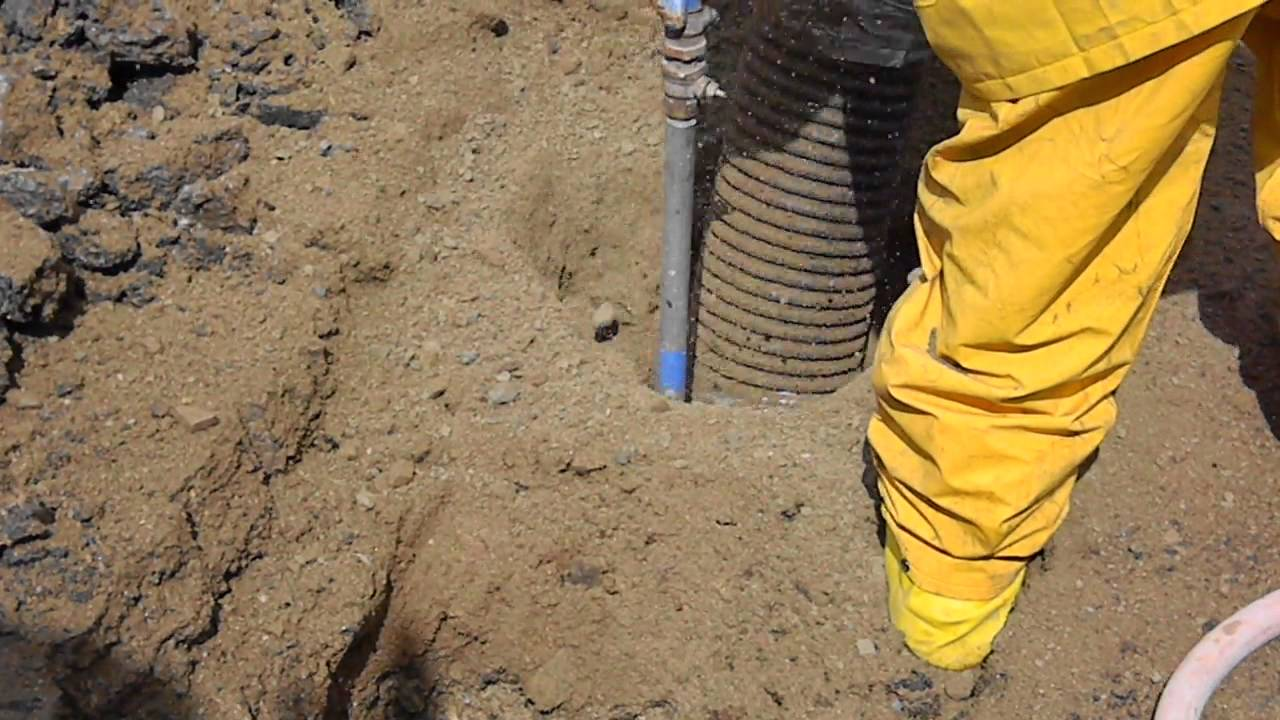 Air Spade With Vacuum Excavation Youtube