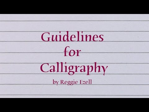 Guidelines For Calligraphy Youtube