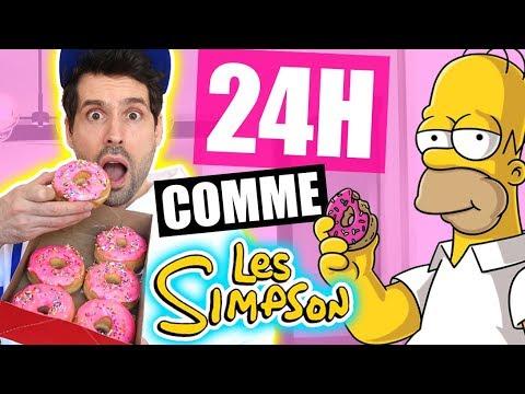 JE MANGE QUE LA NOURRITURE DES SIMPSON PENDANT 24H - HUBY