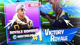 😱 OMG! ROYAL BOMBER FREE Get! ALL My SKINS! | TreeBlue - Fortnite Battle Royale