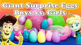 Which do you like better the Boys or Girls character in the Surprise Eggs