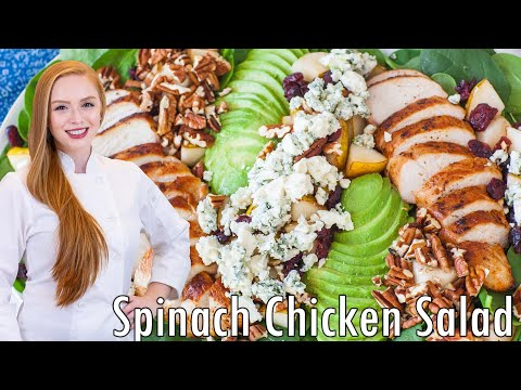 The Best Spinach Chicken Salad