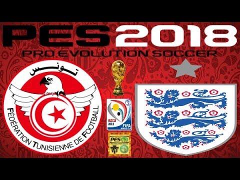PS4 PES 2018 Gameplay Tunisia vs England HD