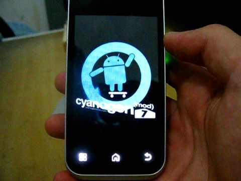 Motorola Backflip: Flashing and demo 2.3 android gingerbread MB300 ROM