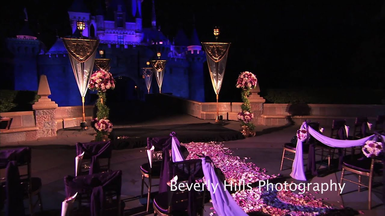 disney castle wedding ceremony disneyland hd youtube
