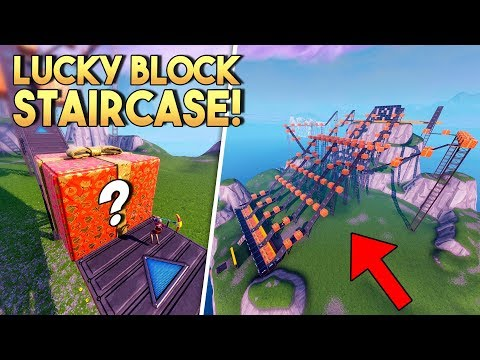 FORTNITE LUCKY BLOCK STAIRCASE!! - Fortnite Creative (Nederlands)