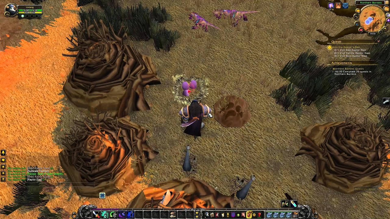Into The Raptor S Den Quest Playthrough Northern Barrens Youtube