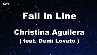 Fall In Line ft. Demi Lovato - Christina Aguilera Karaoke 【No Guide Melody】 Instrumental Video
