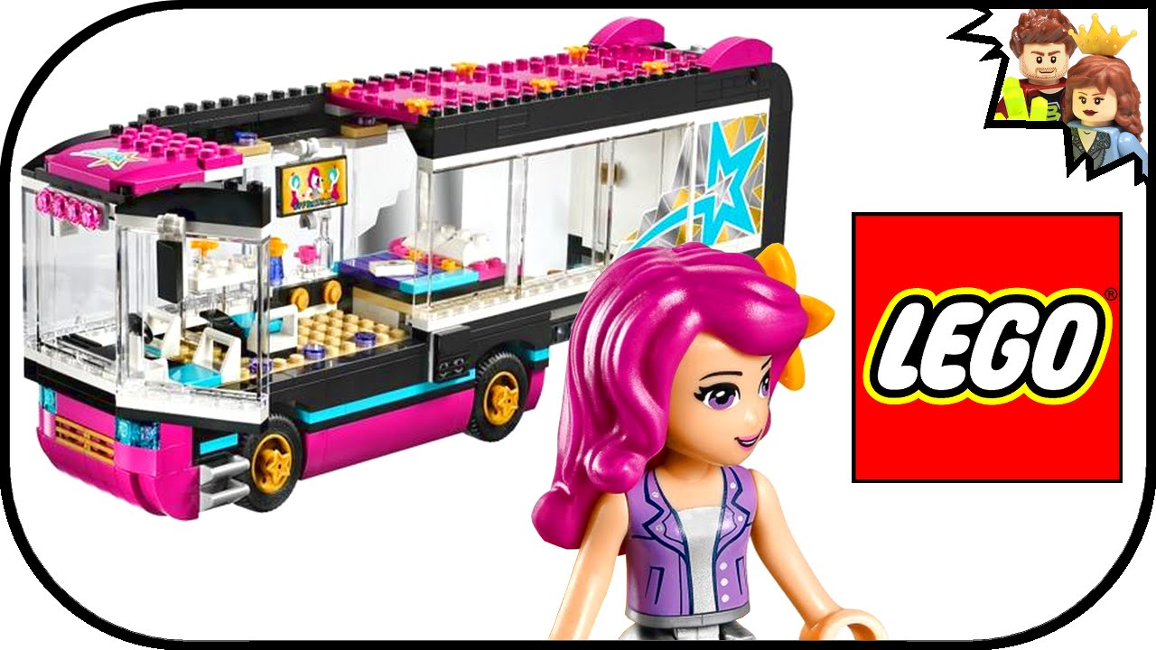 60 Second Build Lego Friends Pop Star Tour Bus 41106 Brickqueen