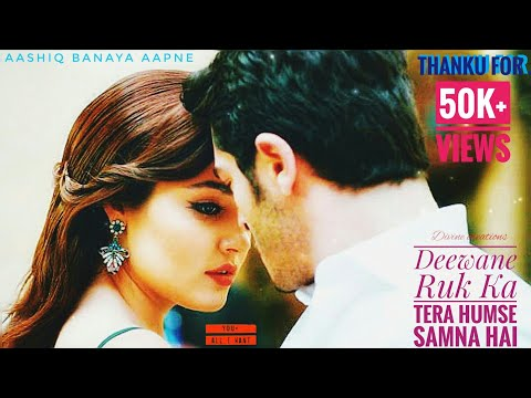 Deewane Ruk Ja Tera Humse Samna Hai | Aashiq Banaya Apne | ♥Ft Hayat ღ Murat♥ | Whatsapp Love Status