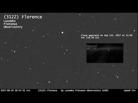 (3122) Florence asteroid close approach 2017