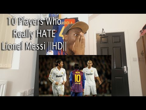 10 Players Who Really HATE Lionel Messi HD Reaction