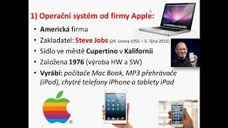 Operaèní systémy - Informatika 6. třída
