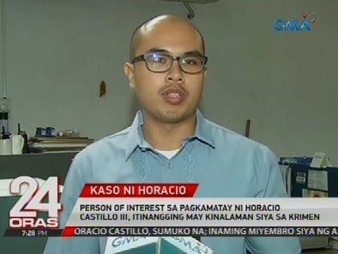 Person of interest sa pagkamatay ni Horacio Castillo III, itinangging may kinalaman siya sa krimen