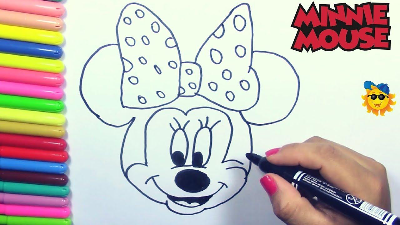 Dibuja Y Colorea Minnie Mouse Dibujos Para Ninos Learn Colors