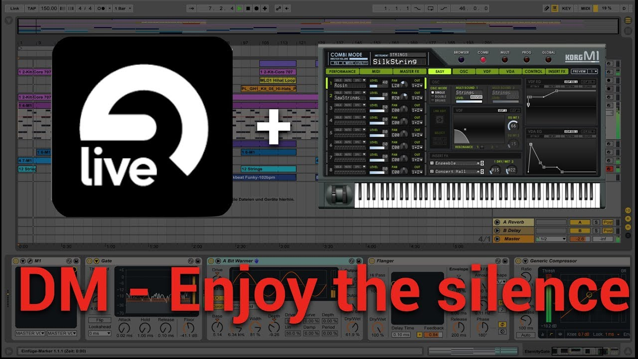 Enjoy the silence (Ableton Live & KORG M1 VST)