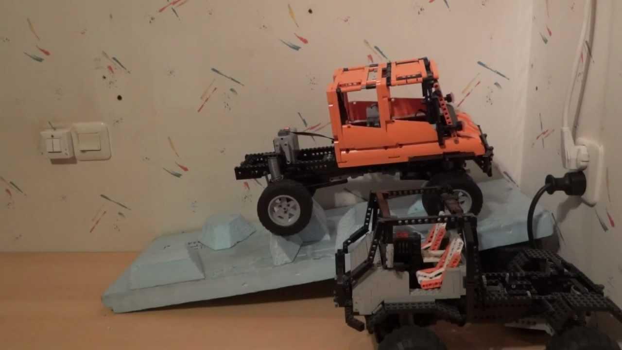 Lego 8110 Unimog U400 Moc Crewcab Crash Youtube