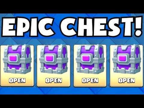 Clash Royale ALL EPIC CHEST OPENING (GUARANTEED EPIC CARDS!) NEW UPDATE CARD CHEST + ALL EPIC DECK
