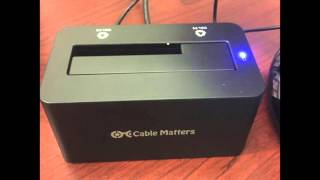 Cable Matters SuperSpeed USB 3.0 to SATA Hard Drive Docking Station - Supports 6TB Hard Drives