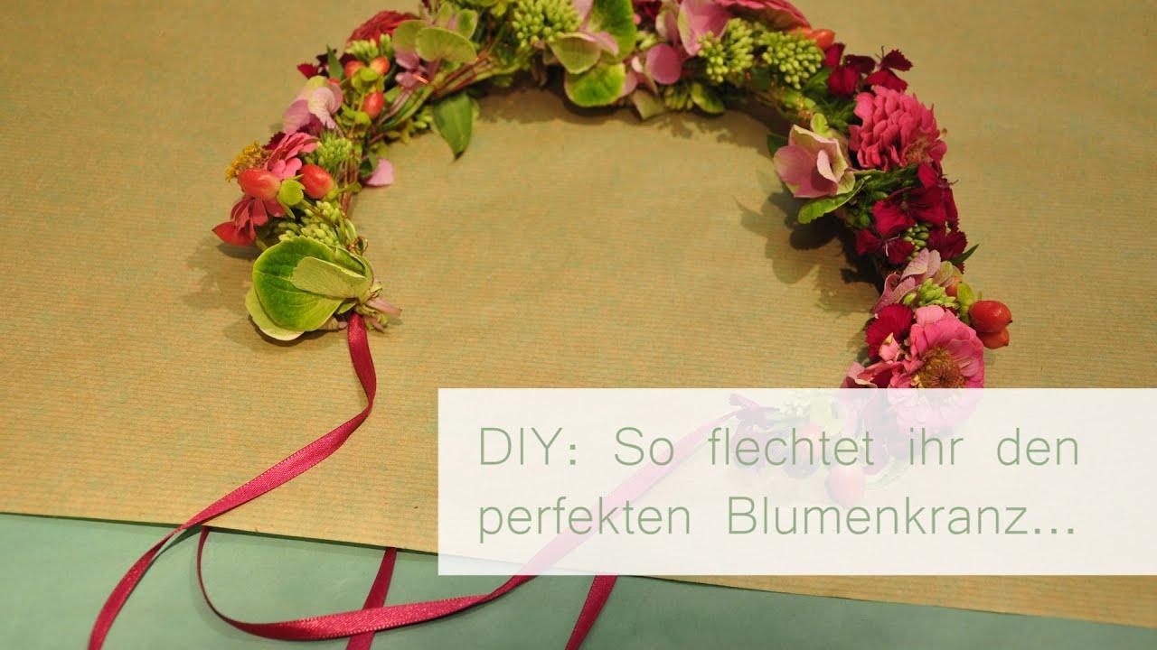 DIY Blumenkranz flechten  YouTube