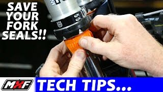 How to Save a Fork Seal - 3 Simple Steps to Fix Leaky Dirt Bike Forks!!