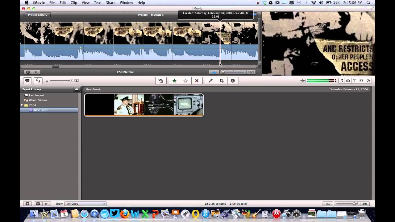 how to take audio from imovie