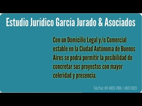 Constitución de domicilio legal en Capital Federal Buenos Aires Argentina