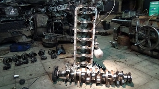 Разбор и дефектовка  двигателя М 110 Мерседес.