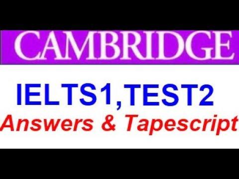 Cambridge IELTS 1, Test 2 (Answers & Tapescript)