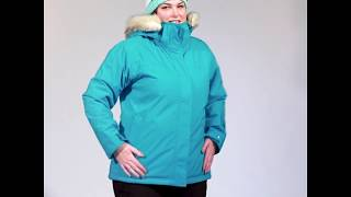 Cartel Brooklyn Womens Plus Size Ski Jacket Teal