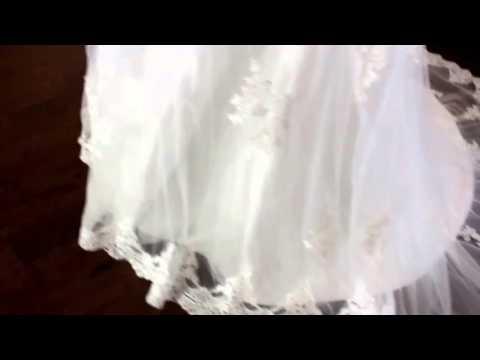 Full Figure Long Sleeve Beaded Sash Aline Wedding Dress Curvy Lace Bridal Gown