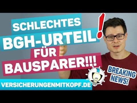 Kündigung von BAUSPARVERTRÄGEN rechtswirksam! - BGH Urteil vom 21.02.2017