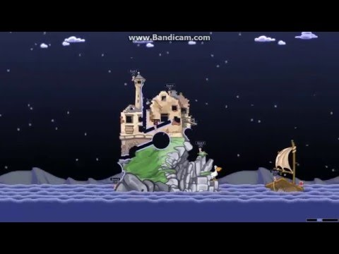 Worms World Party Remastered Custom Mission Escape from Alcatraz |