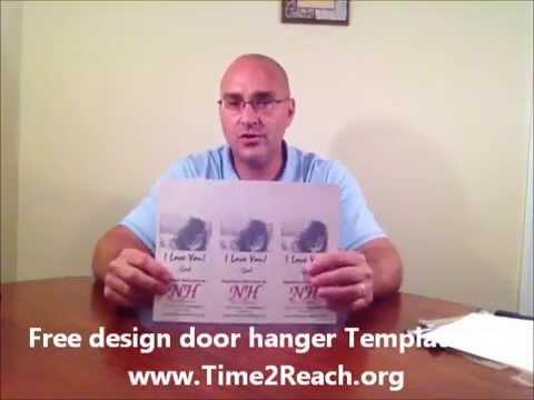 How To Make Door Hanger Pt Design