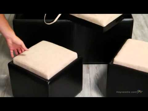 Garrett Double Storage Ottoman With Tray U0026 Side Ottomans   Product Review  Video