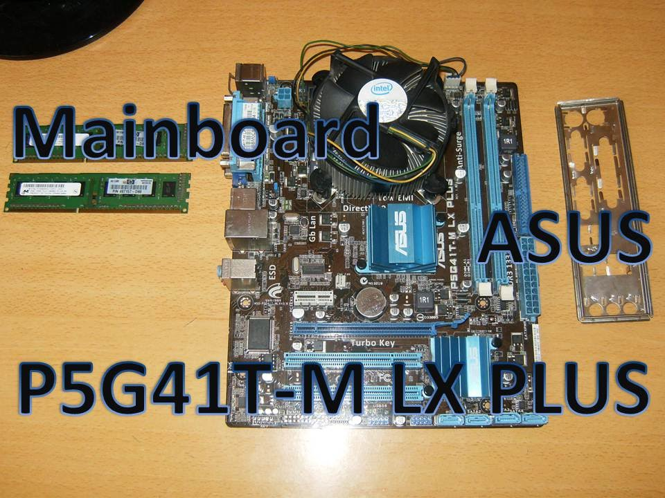 Motherboard ASUS P5G41T M LX PLUS Micro ATX Intel Chipset G41 ICH7 Ram Memory DDR3 Windows 10