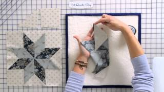 How to Sew a Basic Y-Seam in a Quilt Block by Edyta Sitar of Laundry Basket Quilts