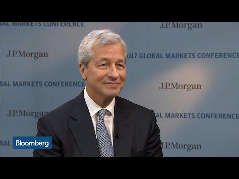 JPM CEO Dimon on U.S. Growth, Regulation, Tax Reform