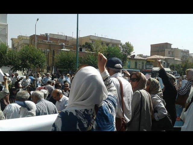 IRAN: Mass Protests by Retirees in Front of Majlis