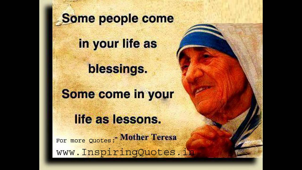 Inspirational Quotes Mother Teresa Youtube