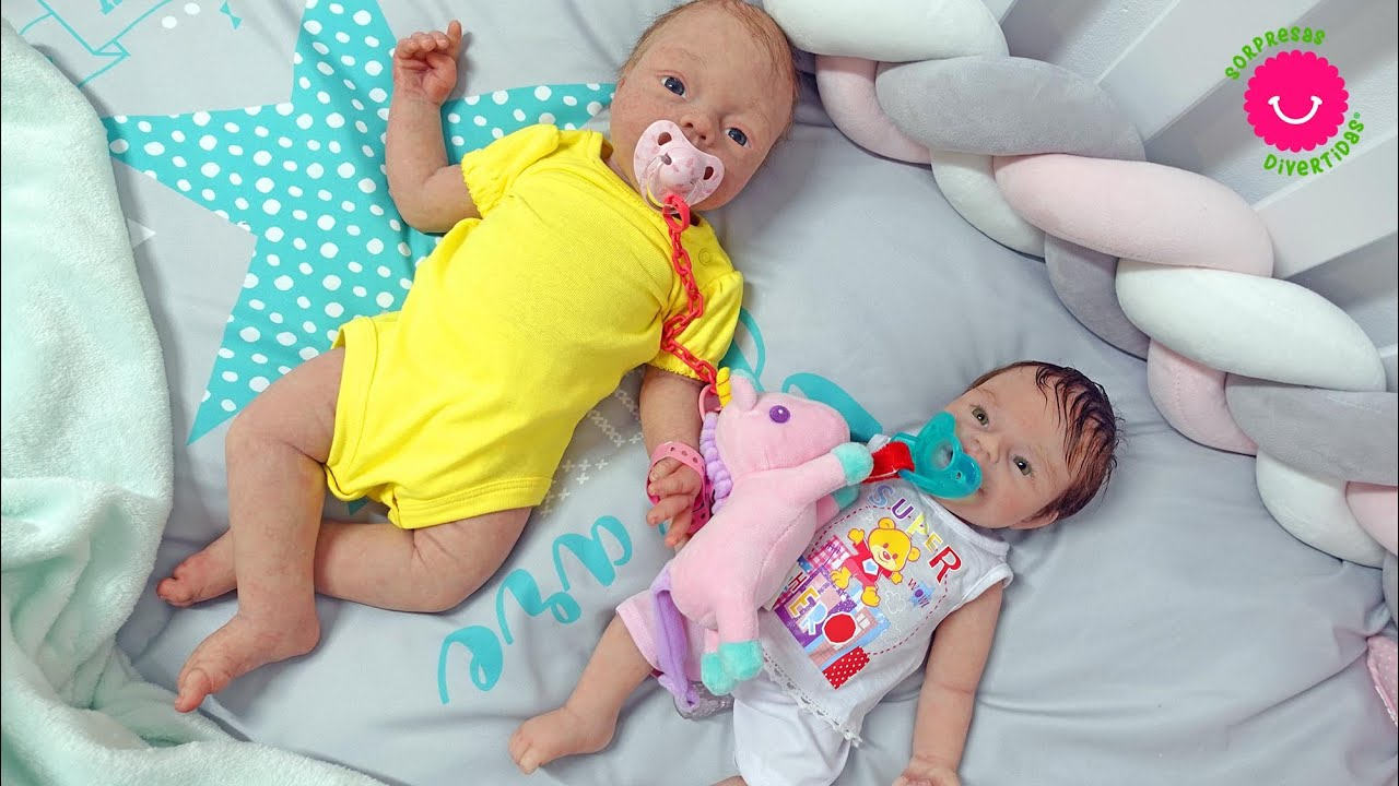 Rutina de DOS bebés REBORNS de SILICONA - Anuk y Anisa