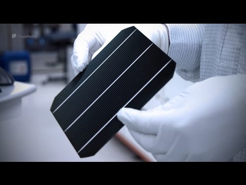 Changes in Solar Cell Technology - Joseph von Fraunhofer Prize 2016