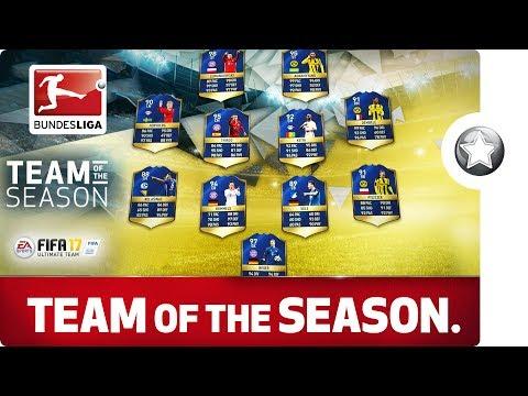 The Bundesliga Team of the Season 2016/17 - Aubameyang, Lewandowski & Co.