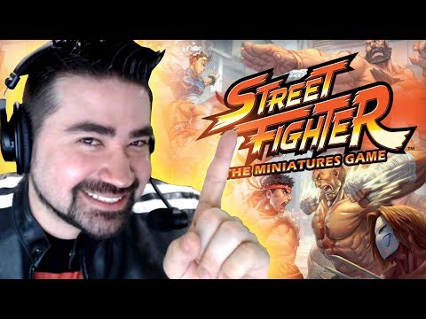 AngryJoe Talks Street Fighter Miniature Game (awesome interview!)