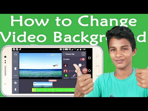 how to change video background in mobile
