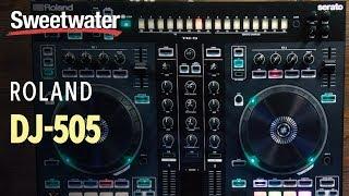 Roland DJ-505 2-channel Serato DJ Pro Controller with Drum Machine Demo